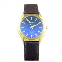 Wholesale Sports watches men watches gold dial leather material fashion design for men and women table
