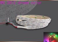 Wholesale 1M colorful WS2812B leds m WS2811 IC built in WS2812 RGB dream color change LED Flexible Strip Light DC5VTop selling