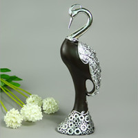 bathroom height - cm height Grus japonensis stand on the desk with the diamond on the cover wedding gift