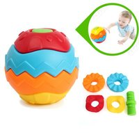 Wholesale 2015 Colorful Multivariant Ball Baby Children Hand Caught Learning Infant Puzzle Cre active Assembly Disassembly