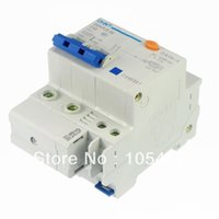 Wholesale C60 ELCB Earth Leakage Circuit Breaker P N AC230 V A mA KA Delay order lt no track