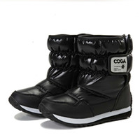 Wholesale New style Chinese TOP brand children shoes boys girls boots waterproof high quality winter shoes chill proof kids snow botas black pink