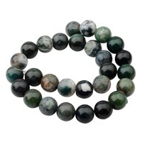 aquatic sports - Natural Aquatic Agate mm Round Beads for DIY Making Charm Jewelry Necklace Bracelet loose Stone Indian Agate Beads For Wholesales
