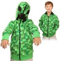 fashion winter wear - HOT Nolvelty Boys MINECRAFT Hoodies Sweatshirts Creeper Green Casual Coat Jacket Size T Spring Winter Warm Wear Fashion Kids Clothing