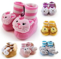 baby doll shoes - 2015 Winter super soft animal doll modeling shoes Thick coral velvet baby shoe Baby floor socks baby wear pair