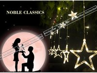 curtains - 2016 M LED String LED Lights V V Star Curtain Fairy Light Christmas Xmas Wedding Party Decoration Y