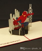 pop up birthday card - Spiderman Creative pop up card vintage D Greeting cards lovely post card birthday Card LJJH506