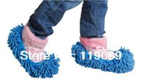 Wholesale MopCleaning Slippers Drop Shipping Non Slip Cover Set Clean Clothe Cleaning Floor Chenille Microfiber Shoe Overshoes Floorcloth Wiping