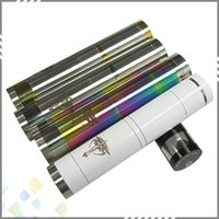 Single stainless, gold & silver mix Metal Vaporizer Nemesis Mod E Cigarette Colorful Mechanical Mod fit 18650 battery 510 RDA RBA Atomizer high quality DHL Free