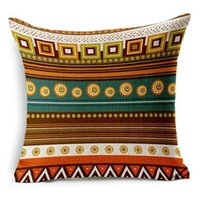 african style cushions - African National Bohemian Style A Grade Simple Striped Linen Chair Cover Spandex Travel Cushion Sleep Holding Pillow Cases