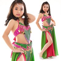 belly dance outfit - Girls Kids Belly Dance Costume Outfit Bollywood Indian Oriental Dance Carnival Children s Performance Stage Wear Mardi Gras Set
