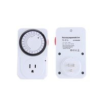 Wholesale New US EU Plug Hour Programmable Mechanical Electrical Plug Program Timer Power Switch Energy SaverHot New Arrival