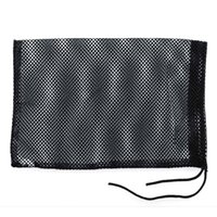 Wholesale Black Nylon Mesh Nets Bag Pouch Golf Tennis Balls Holder Hold Ball Storage Closure Durable