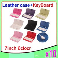 Wholesale 7 inch Tablet PC Micro USB Leather Keyboard Case ZY L11