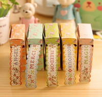 adhesive paper ribbon - 1 M NEW Vintage Fresh Garden Flower ribbon paper tape DIY Adhesive Tape Multifunction dandys
