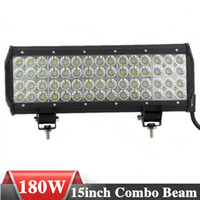 Wholesale 15 inch W Quad ROW CREE LED light bars Spot Flood Combo Beam LED Working Light for Offroad Truck SUV Tractor Boat