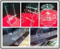 Wholesale Acrylic E Cig Display Case Ecigarette Stand Shelf Holder Rack For E Cigarette Ego Battery Vaporizer Ecig E Cigs Mod Drip Tip