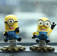 Wholesale 2015 New Minions Despicable Me Action Figures Toy X6X8 CM Resin Minion Dolls for Car Interior Spring Decorations
