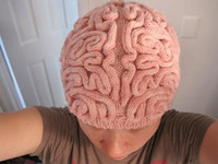 adult brain - New Top Fashion Adult Cap for Creative Hand Made Brain Hat Knitted Winter Creepy Halloween Scary Touch Your Kintting Hats