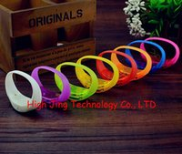 cheer gifts - LED flashing vibration control bracelet silicone led flashing voice control wristband for cheer pary chrismas gift