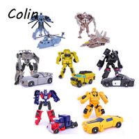 Wholesale 7pcs Transformation Kids Classic Robot Cars Toys Bumblebee For Children Action Toy Figures Rescue Bots Optimus Prime WJ058