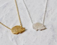 best hedgehog - Gold Silver Hedgehog Necklace Pendants Animal Hedgehog Necklace For Women Best Friend