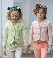 western clothing - 2015 Spring Western British Kids Girl Polka Dot Blazer Jackets Baby Girl Pink Green V Neck Cotton Tuxedo Outwear Children s Clothes J3455