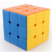 Wholesale 6color independent Rubiks Cube not tages cm not fade Twist For Child