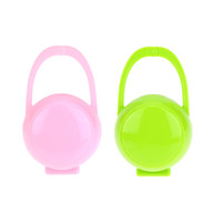 baby care products - Baby Infant Pacifier Box Storage Nipple Case Paci Cradle With Portable Holder Baby Care Products Pink Green H15463