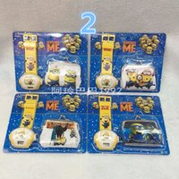 Wholesale Minions projection Watch coin Purse set Despicable Me projection Watch coin Purse set for Christmas Kids Boys Girls Gift H0404c