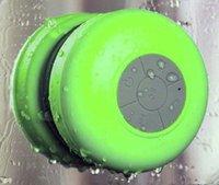 wireless waterproof speaker - New Portable Waterproof Wireless Bluetooth Speaker Shower Car Handsfree Receive Call Music Suction Phone Mic DHL EMS