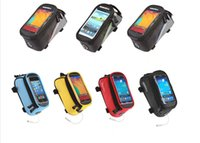 Wholesale ROSWHEEL quot quot quot Bike Bicycle Cycle Cycling Frame Tube Panniers Waterproof Touchscreen Phone Case Reflective Bag Colors
