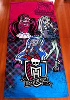 Wholesale 12pcs fast monster high bath towel style cotton towels bathroom children beach towel kids bath towel spider man