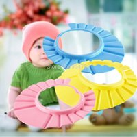 Wholesale 10pcs Baby Child Kid Shampoo Bath Shower Wash Hair Shield Hat Cap Yellow Pink Blue YKS