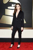 anna kendrick - Anna Kendrick Grammy Black Women s Suits Red Carpet Dress One Button Formal Business Lady Blazers pants suits Jacket Pants