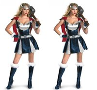 Wholesale Thor s clothes Womens COSPLAY Party dress gloves Dress Set