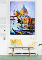 One Panel belgium art - Palette Knife Oil Painting Italy Belgium France Cityscape Architecture Mural Art Picture Printed On Canvas For Home Office Wall Decor
