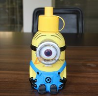 metal water bottle - 2015 Despicable Me Minions Water Bottles Vacuum Cup one eye two eyes Stainless Steel Water Bottle Shape Christmas Gift J123005 DHL FREESHIP