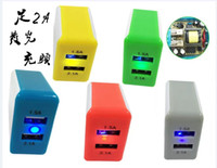 table pc - 2 Ports Dual USB Wall Power Charger Adapter Home Travel Portable US Plug For iphone plus ipad table pc New A A