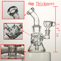 Wholesale 7 quot in Hollow out glass bong mm thickness good function mm female joint oil rigs have mm bowl