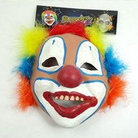 halloween masks clown - Masquerade Mask Halloween Costumes Theater Party Clown Mask Latex Free Size dandys