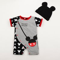 onesies - Top quality baby clothes newborn baby rompers minnie mickey mouse babies jumpersuits infant jumpers with caps child onesies clothing