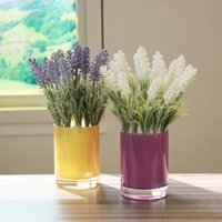 bathroom countertops - Simple four color circular cup shaped glass vase modern home living room restaurant bathroom countertops Floral Decoration