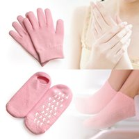 hand gloves - 2pairs Reusable SPA Gel Socks Gloves Moisturizing Whitening Exfoliating Velvet Smooth Beauty Hand Foot Care Silicone Socks