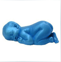 Wholesale 3D Cute Sleeping Baby Shape Silicone Handmade Soap Moulds Fondant Molds DIY Cake Mold Cake Decorating Tools M