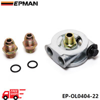 Wholesale FREE DHL EPMAN OIL COOLER FILTER SANDWICH PLATE THERMOSTAT ADAPTOR AN10 FITTINGS M22x1 mm HIGH QUALITY QUICK SHIPPING EP OL0404 FD