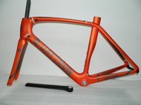 carbon frame bike - 2015 new arrial DIY logo road bike carbon frame T1000 UD finish orange color bicycle framework cm carbon frame