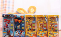 Wholesale 3D Despicable Me Minions Headphone MM Earphones In Ear Earphone for iphone Samsung cell phone MP3 MP4 Universal Cellphone Tablet PC