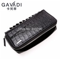 Wholesale Men s crocodile leather wallet long section of European and American men zipper bag clutch hand bag