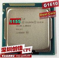 Wholesale Original for Intel Celeron G1610 GHz MB MHz LGA Desktop cpu scattered pieces
